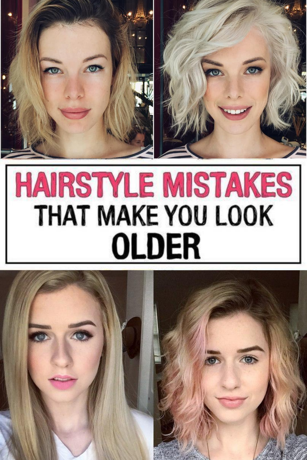 17 Hairstyle Mistakes That Are Aging You In 2020 Hairstyle Hair Advice Hair Mistakes