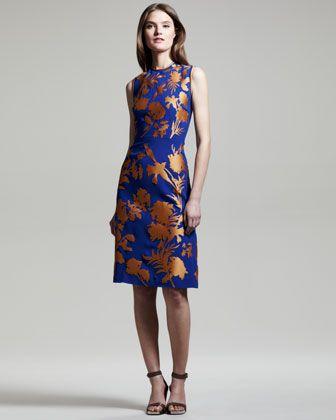 7fcef54dada Linford Floral Crepe-Satin Sheath Dress by Jonathan Saunders at Bergdorf  Goodman.