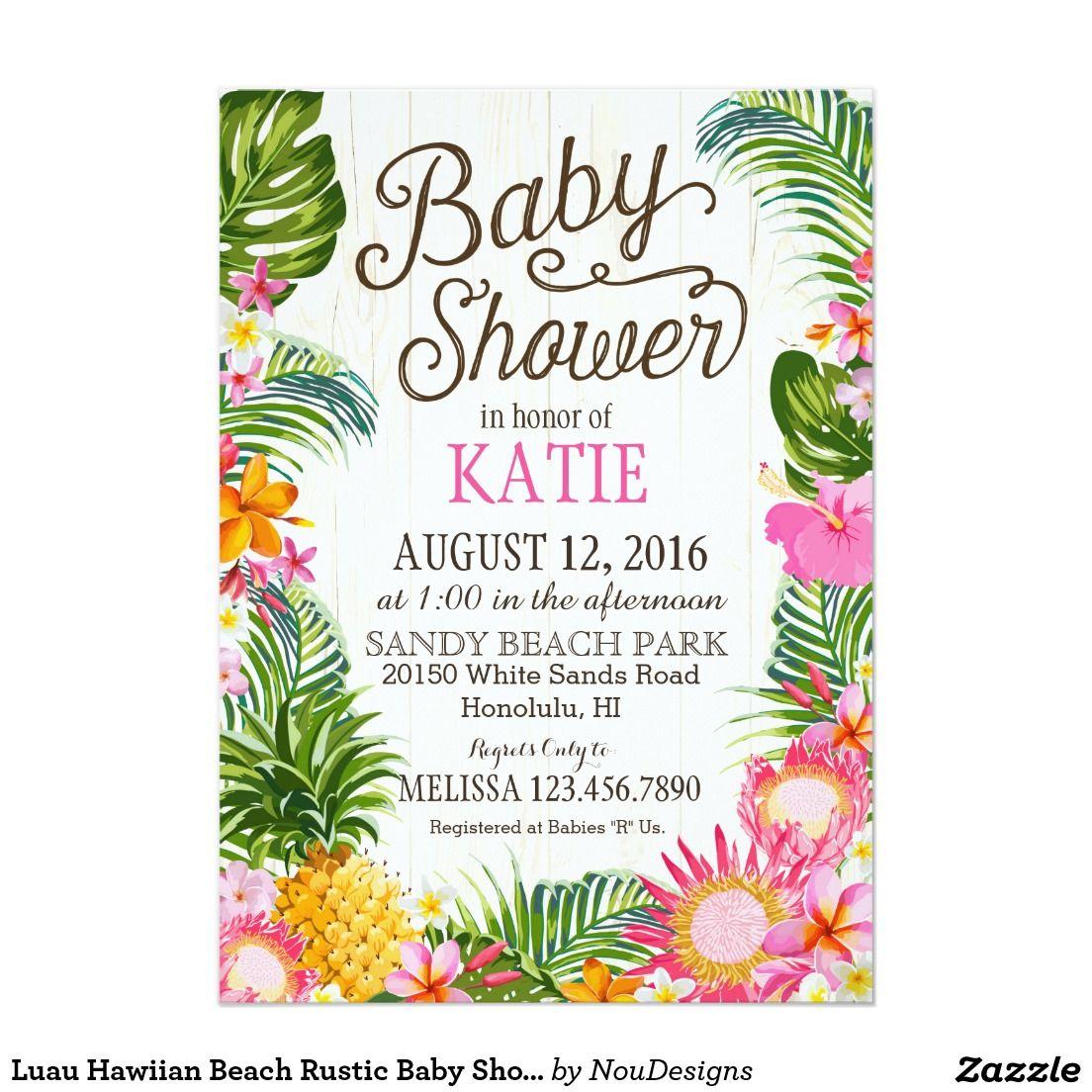 Luau Hawiian Beach Rustic Baby Shower 5\