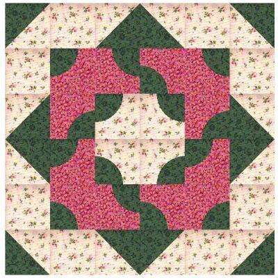 Drunkards Path quilt design