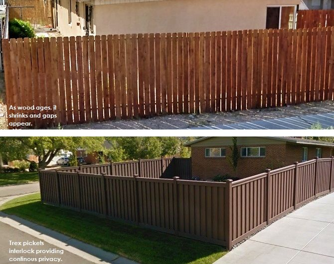 Trex Fencing Privacy Considerations And More Trex Fencing Trex Wood Vinyl