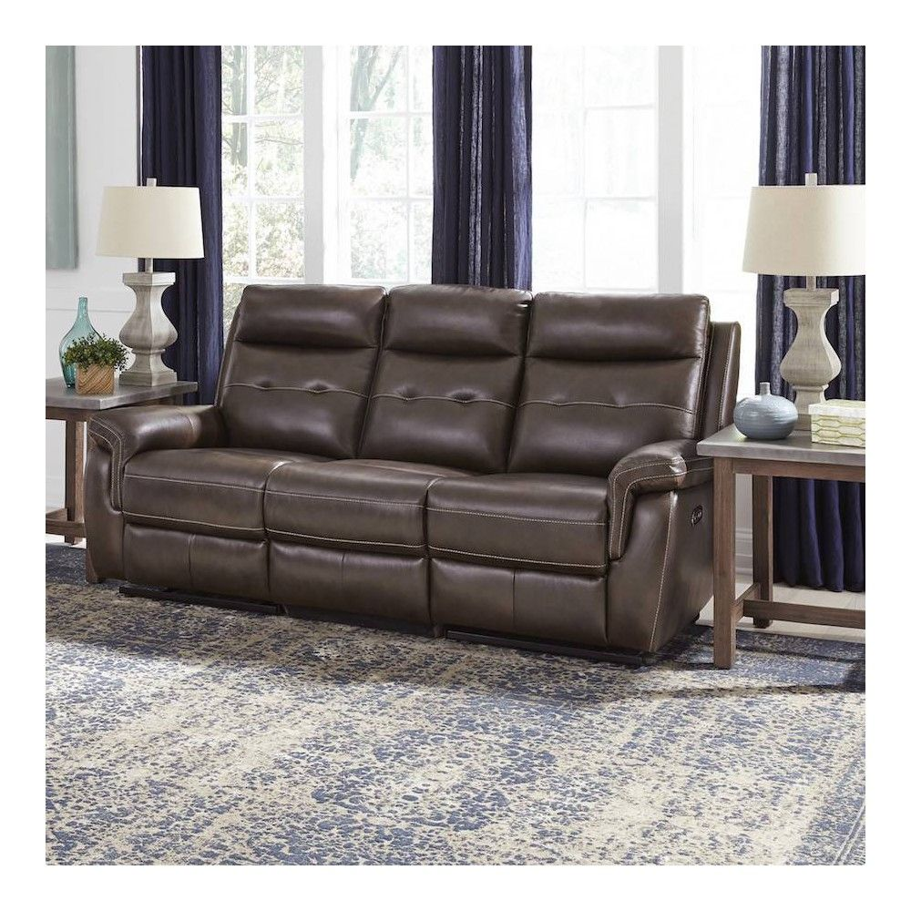 Lux Leather Power Motion Reclining Sofa Brown Home Styles In 2020 Brown Sofa Home Styles Reclining Sofa