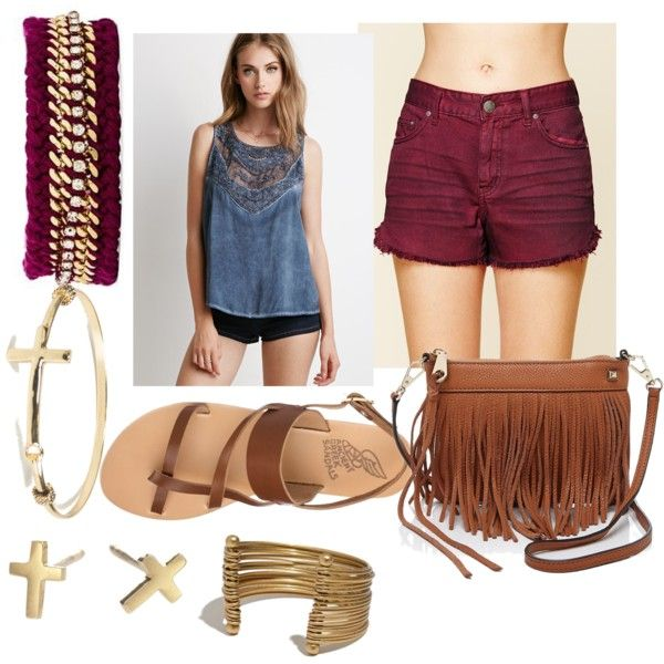 Summer Lunch Date by party4purpose69 on Polyvore featuring polyvore, fashion, style, Forever 21, Free People, Ancient Greek Sandals, Rebecca Minkoff, Adina Reyter, Ettika and Madewell