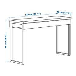 BESTÅ BURS Desk - high gloss white 47 1/4x15 3/4