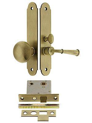 Buckingham Screen Door Mortise Lock Set With 1 1 2 Backset