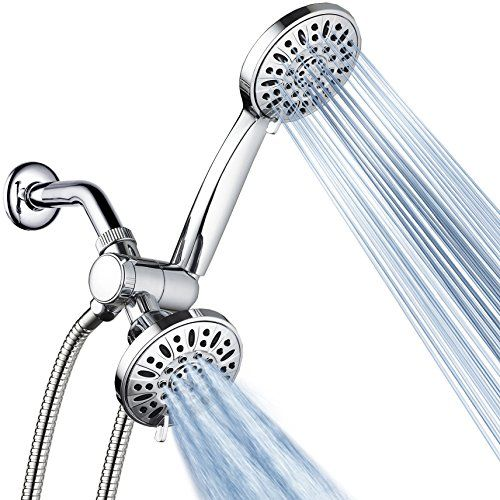 Aquadance Total Chrome Premium High Pressure 48 Setting 3 Way Combo For The Best Of Both Worlds En In 2020 High Pressure Shower Head Shower Heads Shower Head Reviews
