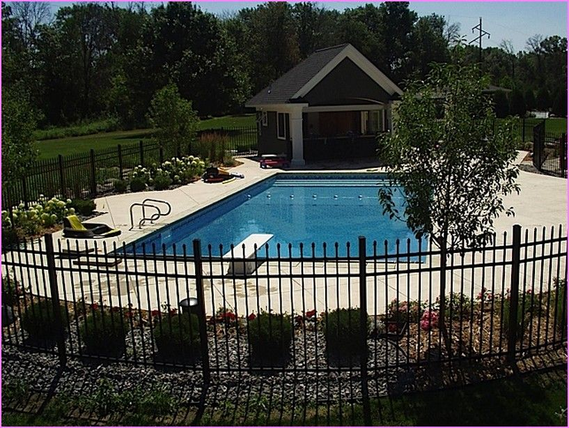 Inground Pool Landscaping Ideas Home Decorators Online Inground Pool Landscaping Inground Pool Designs Landscaping Around Pool
