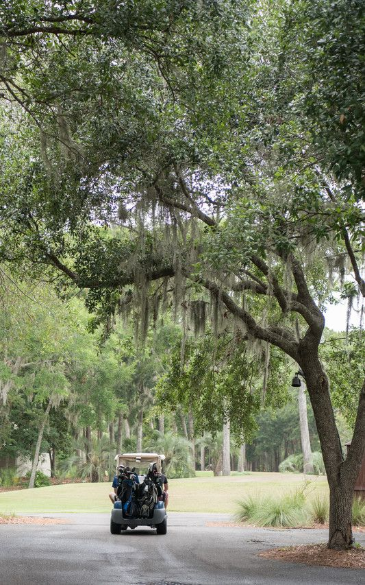 Residents of Haig Point get around on golf carts on the 1,050-acre property that has a Rees Jones golf course and is dotted with everything from cottages to mansions along the Calibogue Sound.