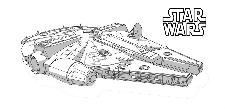 Pin By Shreya Thakur On Free Coloring Pages Star Wars Colors Millennium Falcon Falcon Drawing