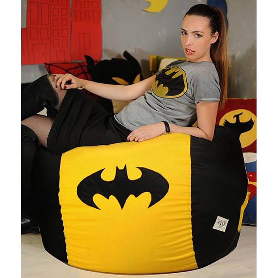 Superhero bean bag chair cover, Bean bag chair, Superhero Gift, Superhero decor, Comic Gift, Superhero room, Superhero Pouf, Superhero party #superherogifts