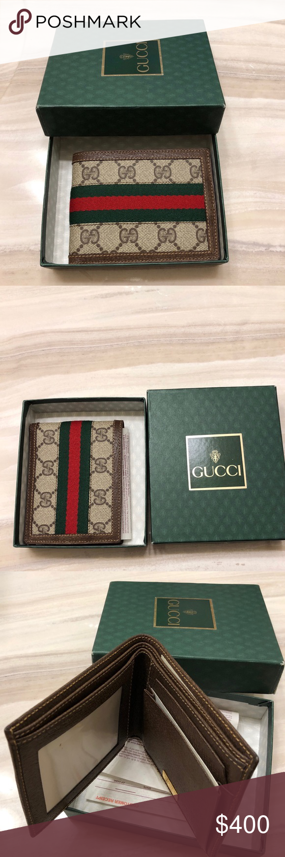238118767e6 100% Authentic Mens Gucci Wallet RARE Vintage 100% Authentic - RARE and  extremely difficult