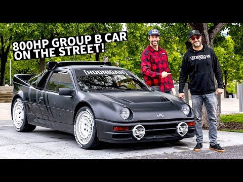 Ken Block S Ford Rs200 Group B Rally Car On The Street Meeting Up With Travis Pastrana Youtube Rally Car Ford Travis Pastrana