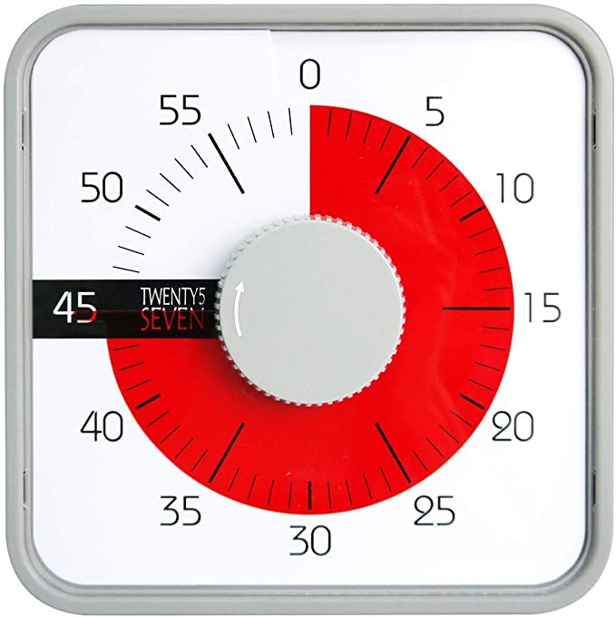 Amazon Com Countdown Timer 7 5 Inch 60 Minute 1 Hour Visual Timer Classroom Teaching Tool Office Meeting Mechanical C In 2020 Timer Countdown Timer Clock For Kids