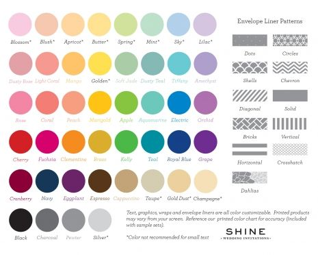 shine-wedding-invitations-colors