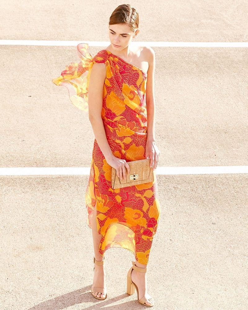 Silk Flowered Long Dress Spring/summer Diane Von F jAnly