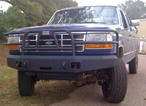 1988 1996 Winch Bumper With Full Grill Guard Ford Bronco F150 F350 Winch Bumpers Ford Bronco Ford