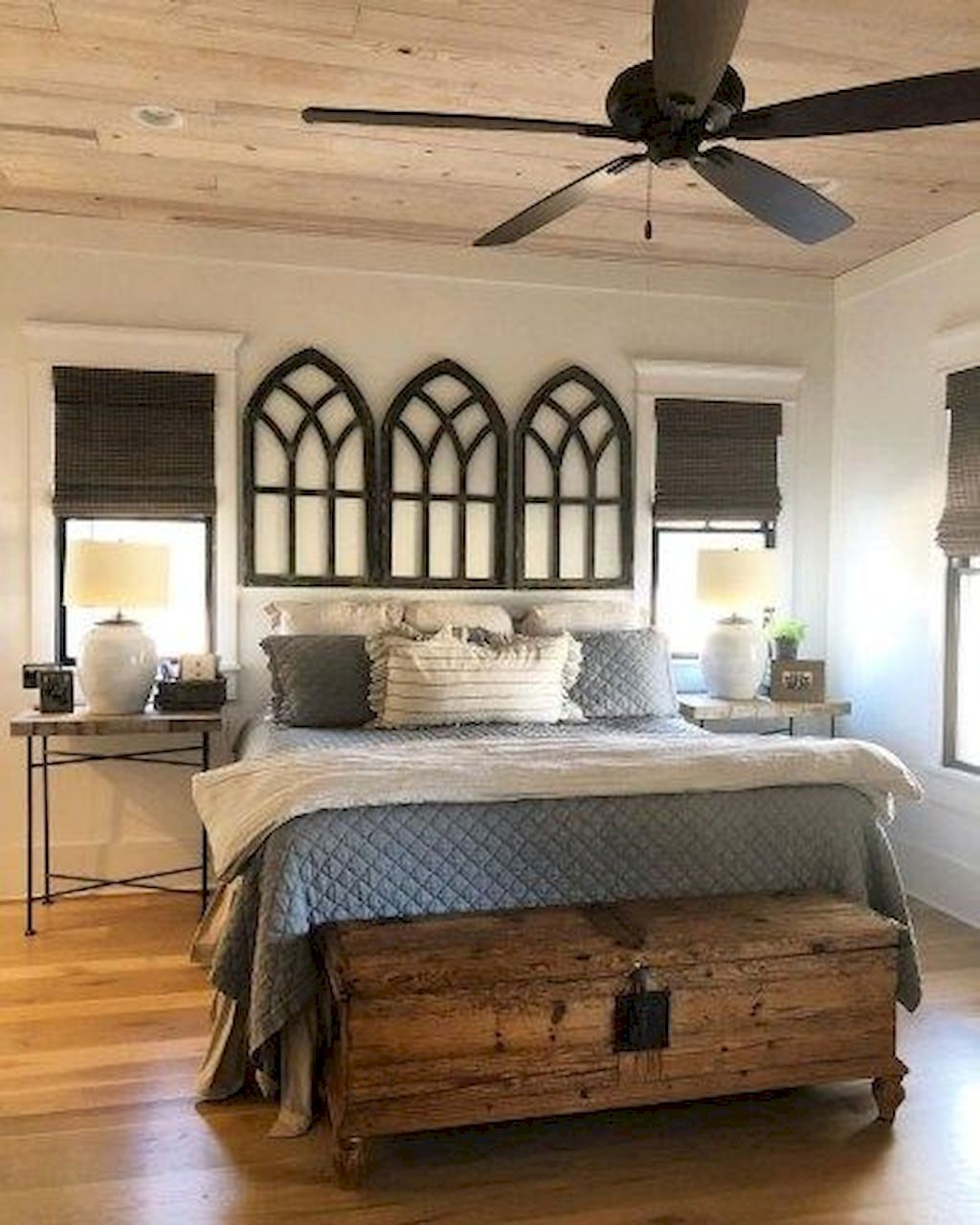 01 Fresh Small Master Bedroom Decor Ideas: Cool 55 AWESOME FARMHOUSE RUSTIC MASTER BEDROOM IDEAS