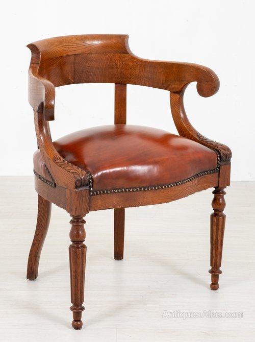 Victorian Oak Desk Chair Antiques Atlas In 2020 Antique Desk Chair Oak Desk Chair