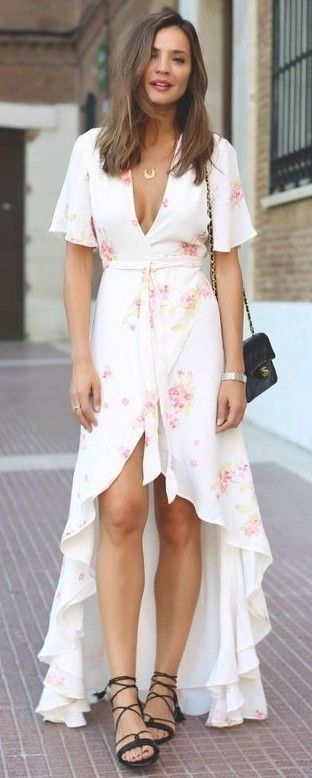 #summer #trending #outfits |  Pastel Floral Maxi Dress                                                                             Source