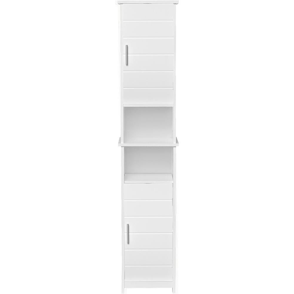 Bath Tower Linen Cabinet 2 Doors Chrome