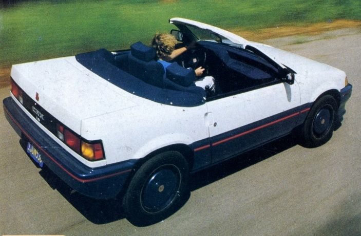 73f4071b18 The Honda CRX convertible built by Richard Straman for Road   Track  magazine. Did this spark the two-seat roadster revival that led to the  Miata