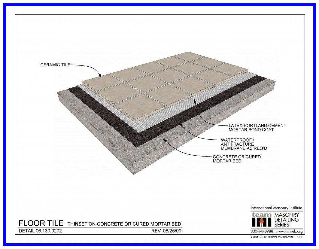48 Reference Of Floor Tile Bed Thickness In 2020 Tile Floor Flooring Cool House Designs