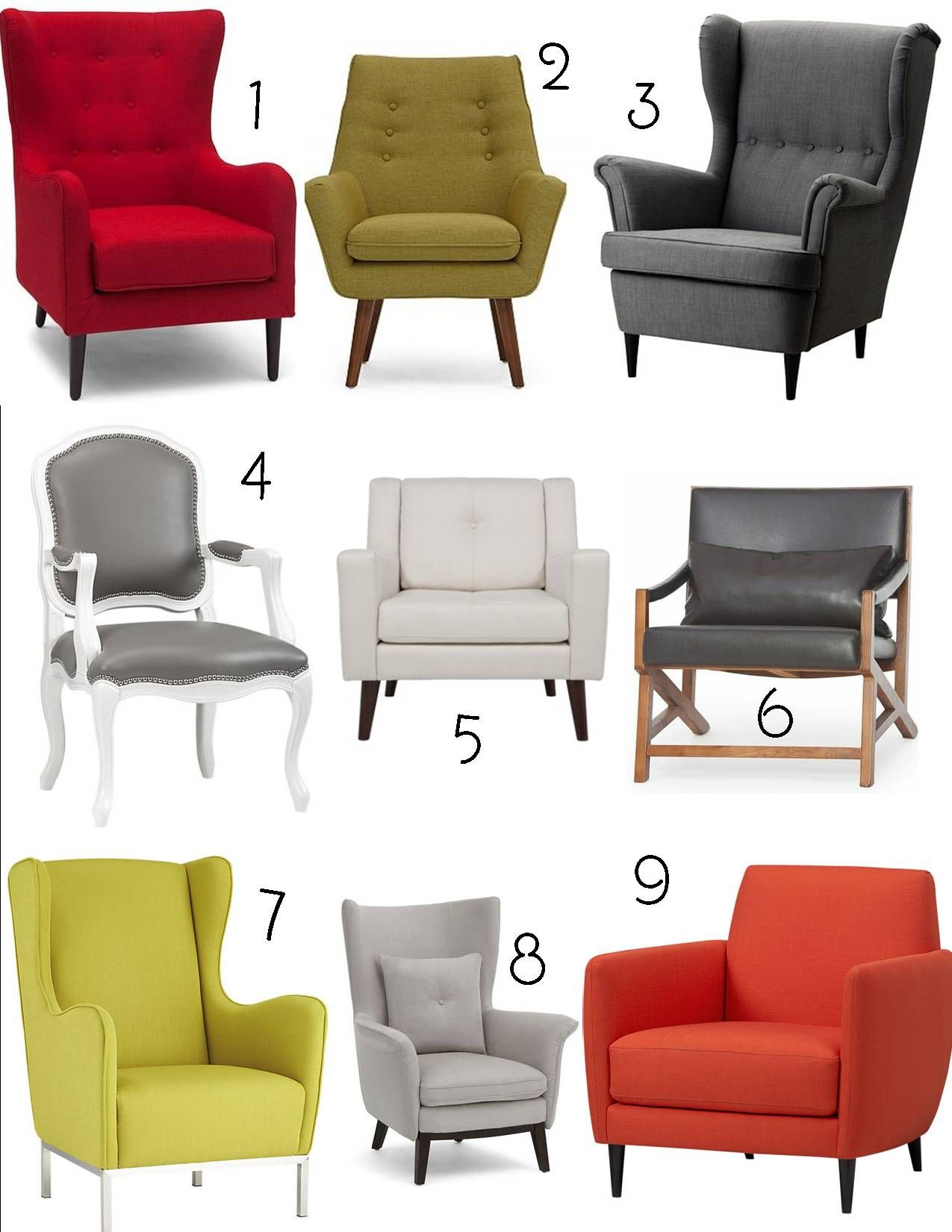 1. Polo Wingback Armchair, Structube; 2. Claire Armchair, Structube; 3.  Gray ArmchairWingback ArmchairArmchairsIkea ...