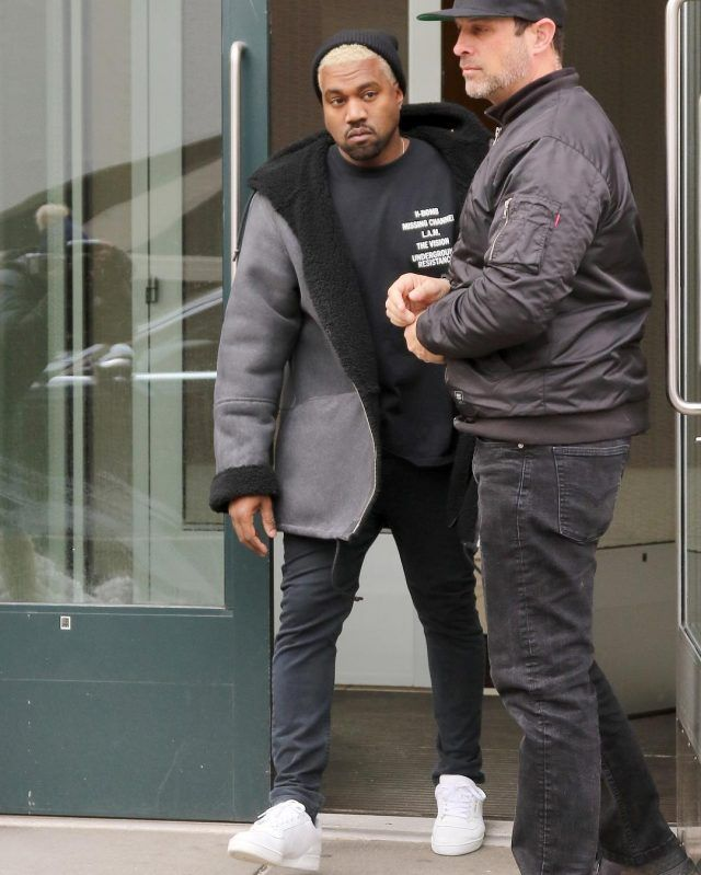 timeless design f82af d42b7 Kanye West Wears Yeezy Season 3 Coat, Global Techno Power T-Shirt and  Adidas Yeezy Season Calabasas Sneakers   UpscaleHype