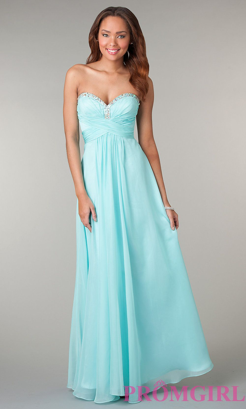 Mint Green Prom Gowns, Strapless Prom Dresses in Green- PromGirl ...