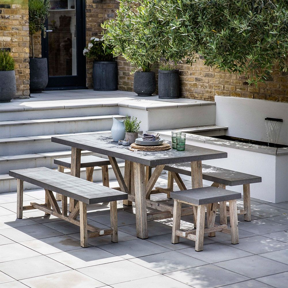 Garden Trading Chilson Dining Table  Table and bench set, Patio