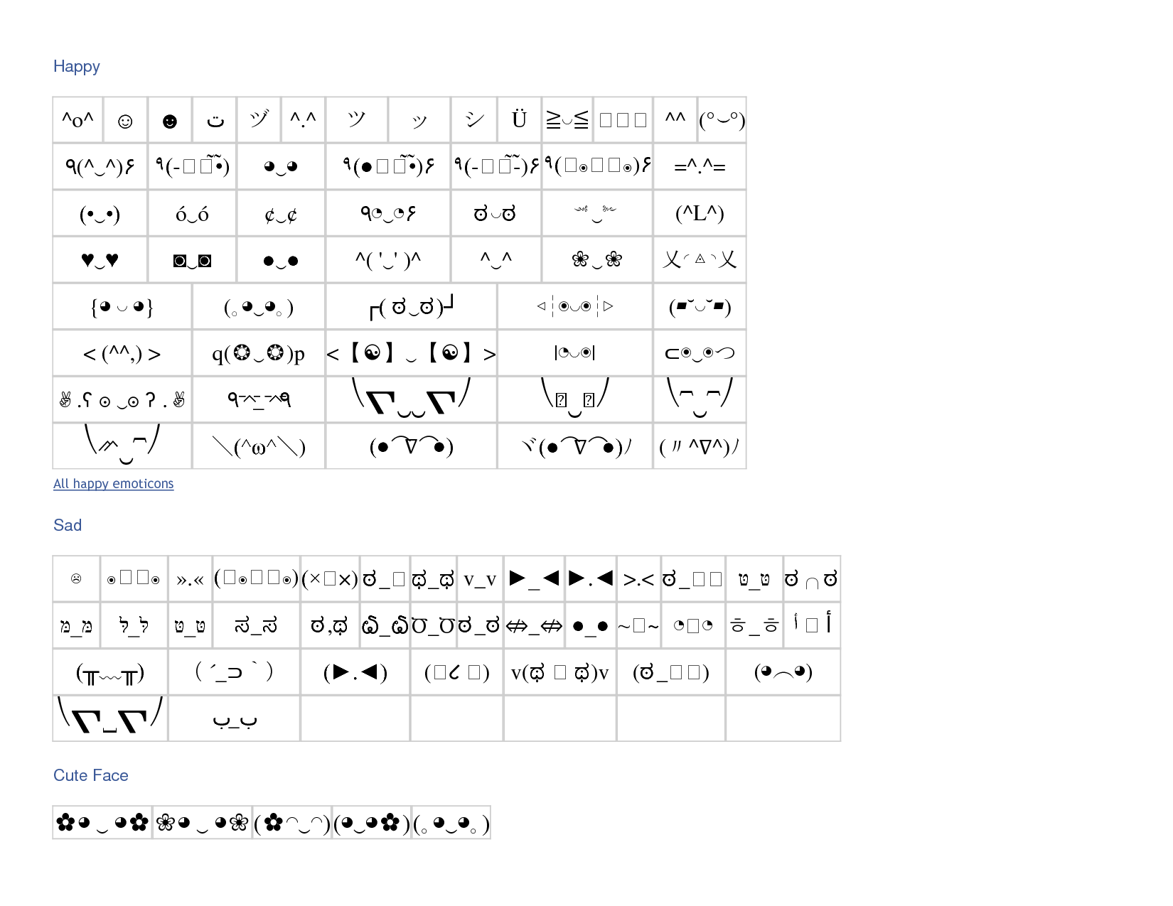 Japanese emoticons with symbols whole vocabulary oohh japanese emoticons with symbols whole vocabulary buycottarizona Choice Image