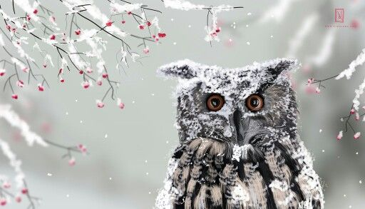 I love owls. I find them very cute and adorable. This is one of my paintings on sale.