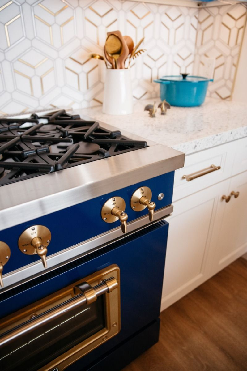 Adding The Soothing Essence Of Cobalt Blue Into The Kitchen Big Chill In 2020 Blue Kitchen Accessories Big Chill Appliances Kitchen Design Color