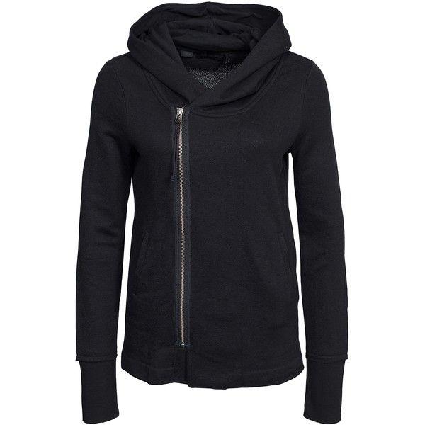 Tiger Of Sweden Jeans Specter Sweatshirt (3,615 MXN) ❤ liked on Polyvore featuring tops, hoodies, sweatshirts, black, jumpers & cardigans, womens-fashion, zip hooded sweatshirt, zip hoodies, zipper hoodie i hooded sweatshirt