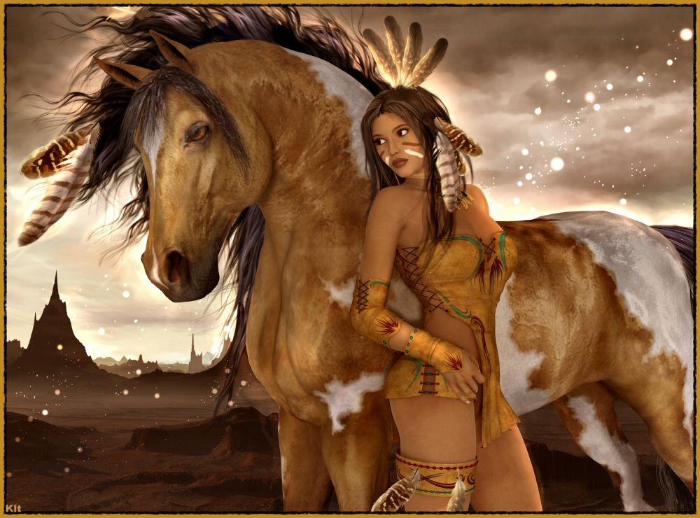 Young Native American Girl Sucking Cock