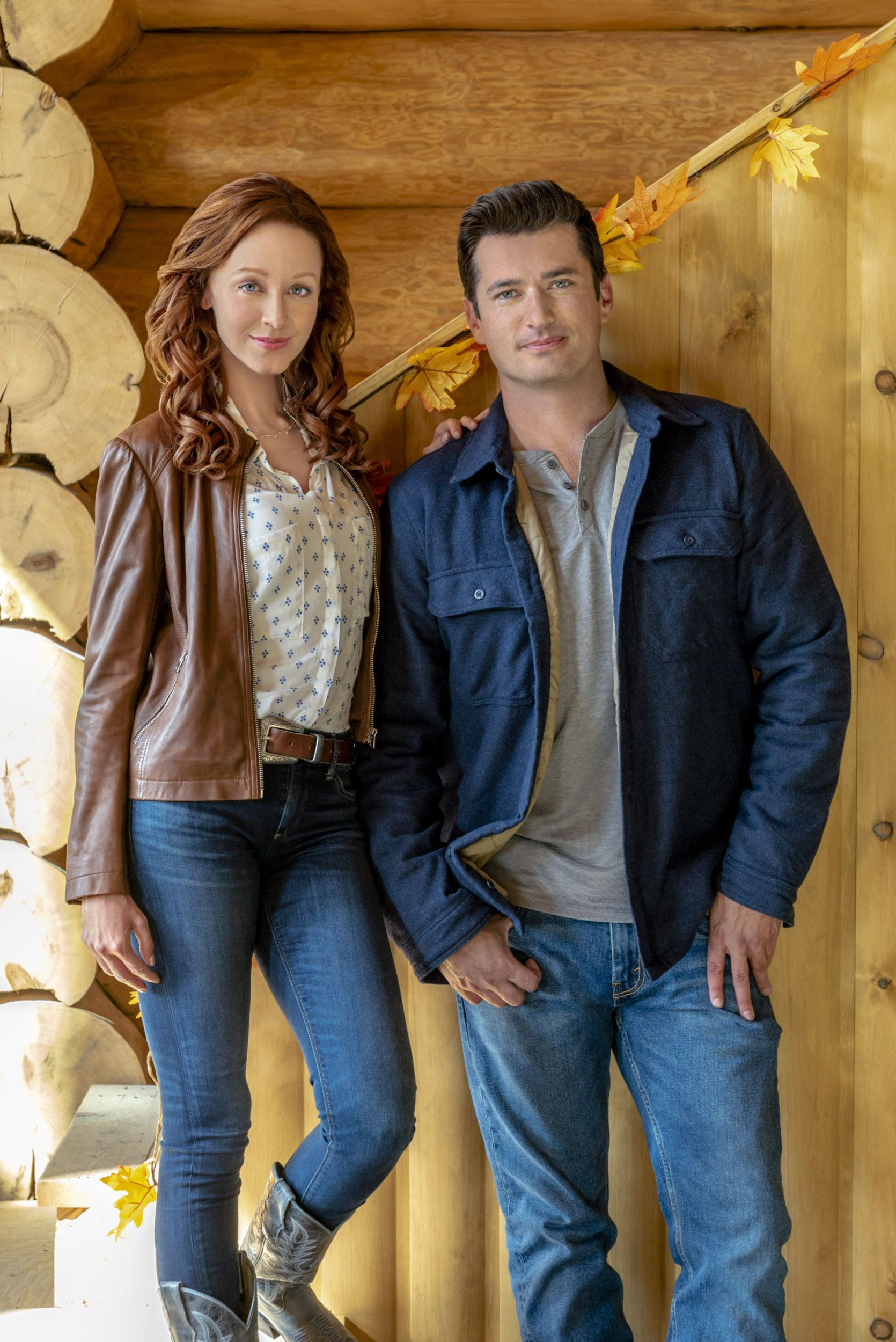 """Check out photos from the Hallmark Channel movie """"Under the Autumn Moon"""" starring Lindy Booth ..."""