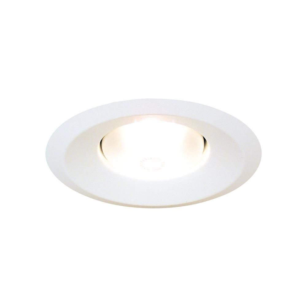 Thomas Lighting 6 In Matte White Splay Fully Enclosed Recessed