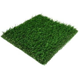 fake grass is great no mowing no water wasted no allergies and no weeds it looks great in a play room or on the patio as a throw rug
