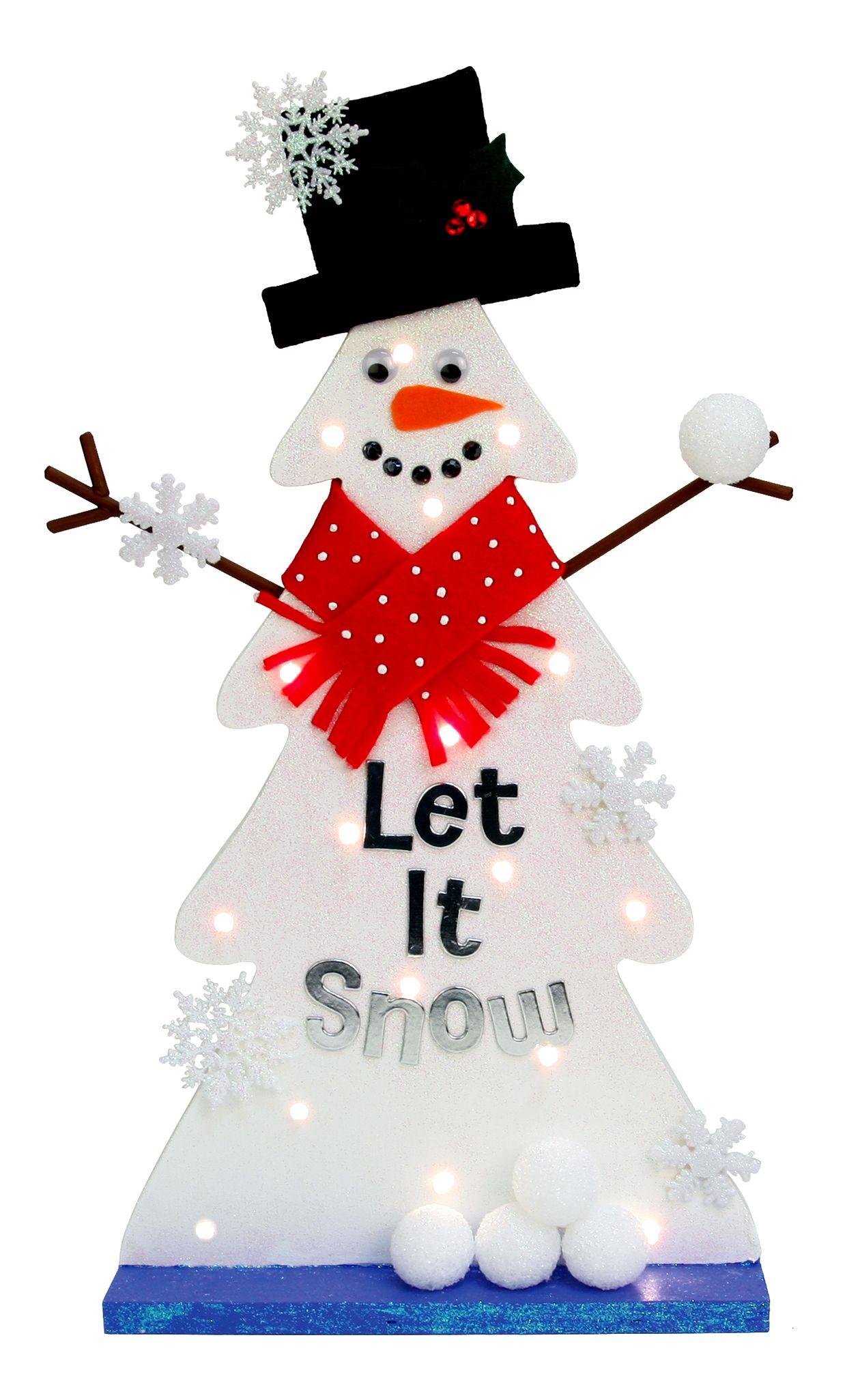 Nicole™ Crafts Wood Christmas Tree Snowman