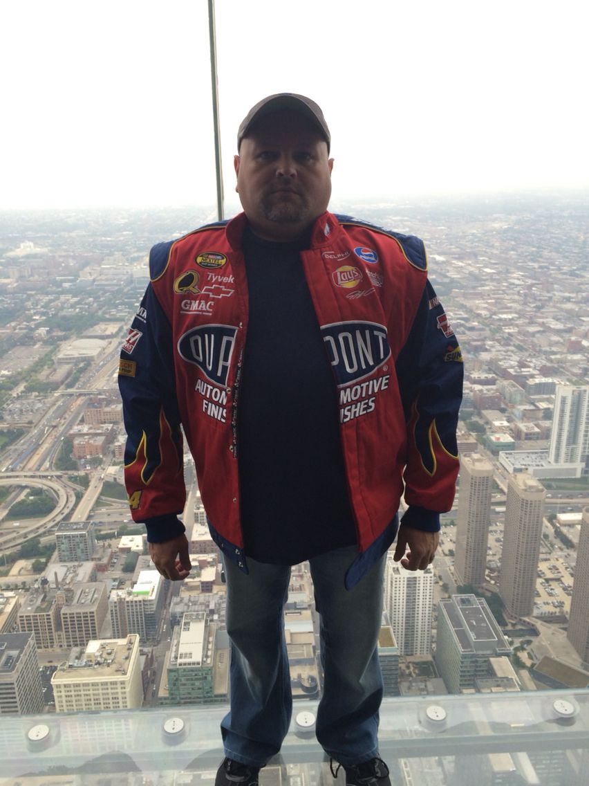 Me Out On The Glass Shew My Stomach Was Feeling Woozie Lol Chicago Travel Bomber Jacket Tyvek [ 1136 x 852 Pixel ]
