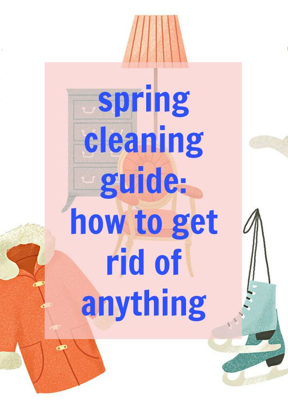 how to get rid of everything and move