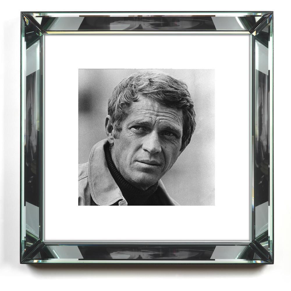 Worlds Away Beveled Mirror Frame Wall Art Mcqueen Portrait Framed Photographs Steve Mcqueen Wall Art