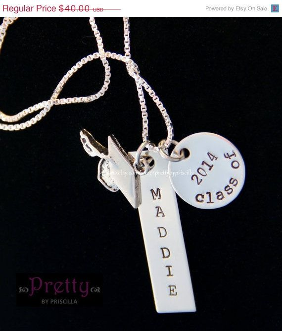 unique graduation gift 2014 grad personalized sted jewelry