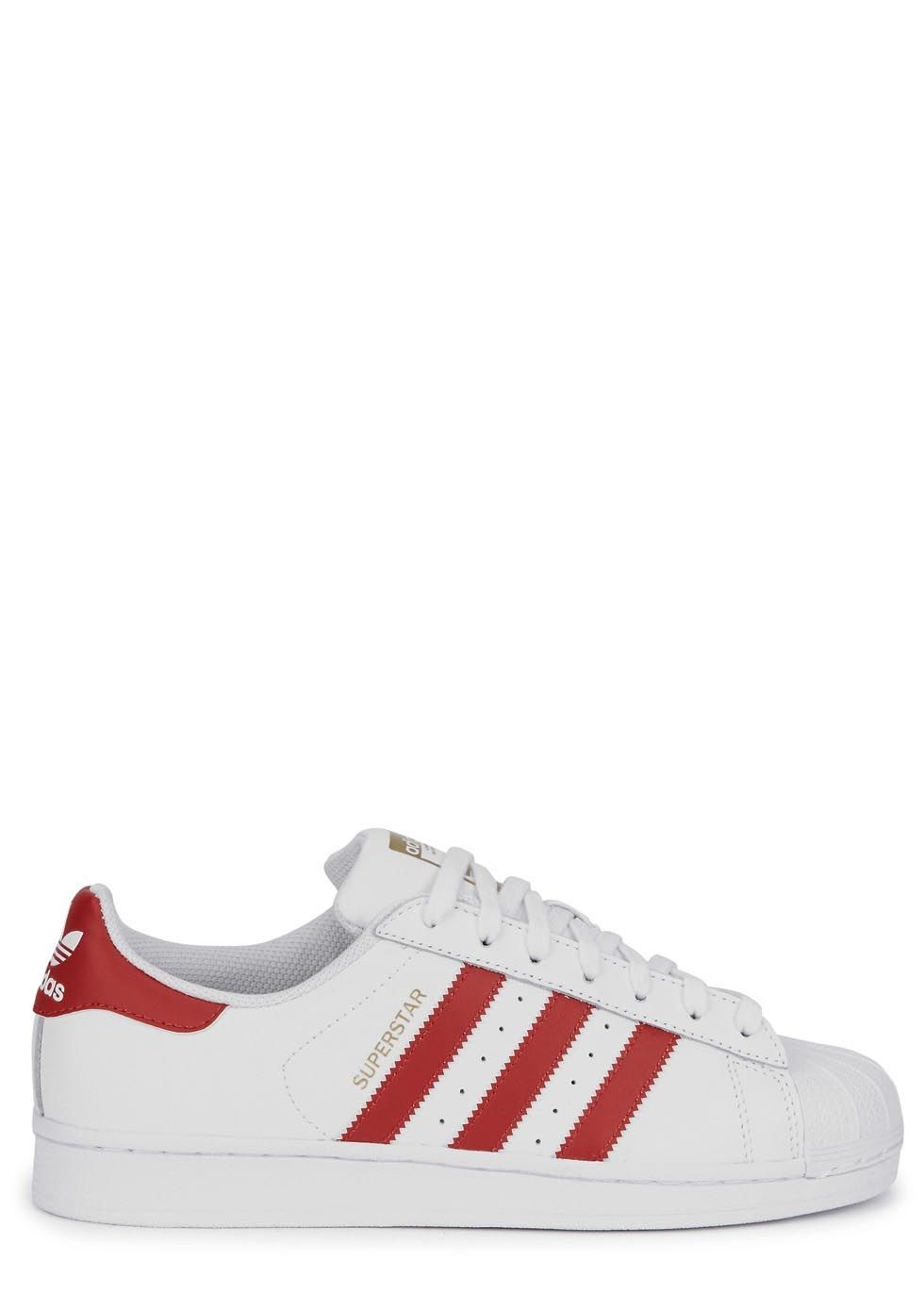 White leather shoes, Adidas originals