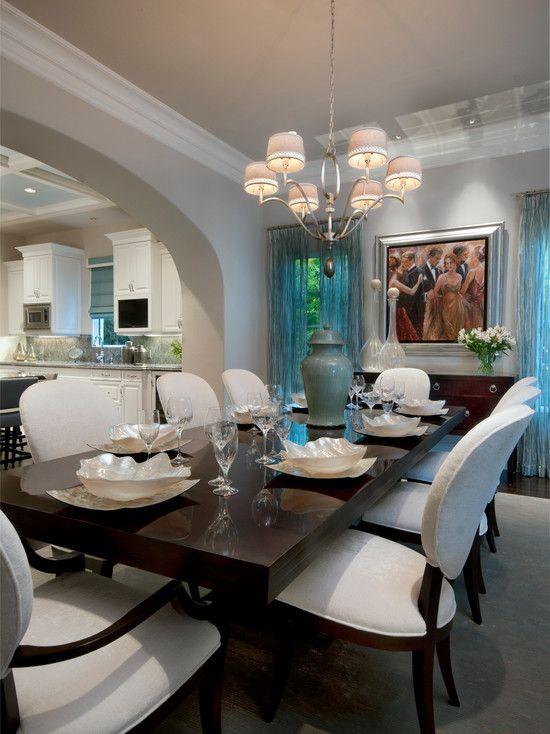 Transitional design portrayed in private residence in Naples, Florida. Interior design by Romanza Interior Design.