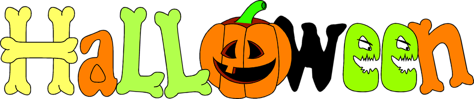 Free Stock Photo Illustration of halloween text with a