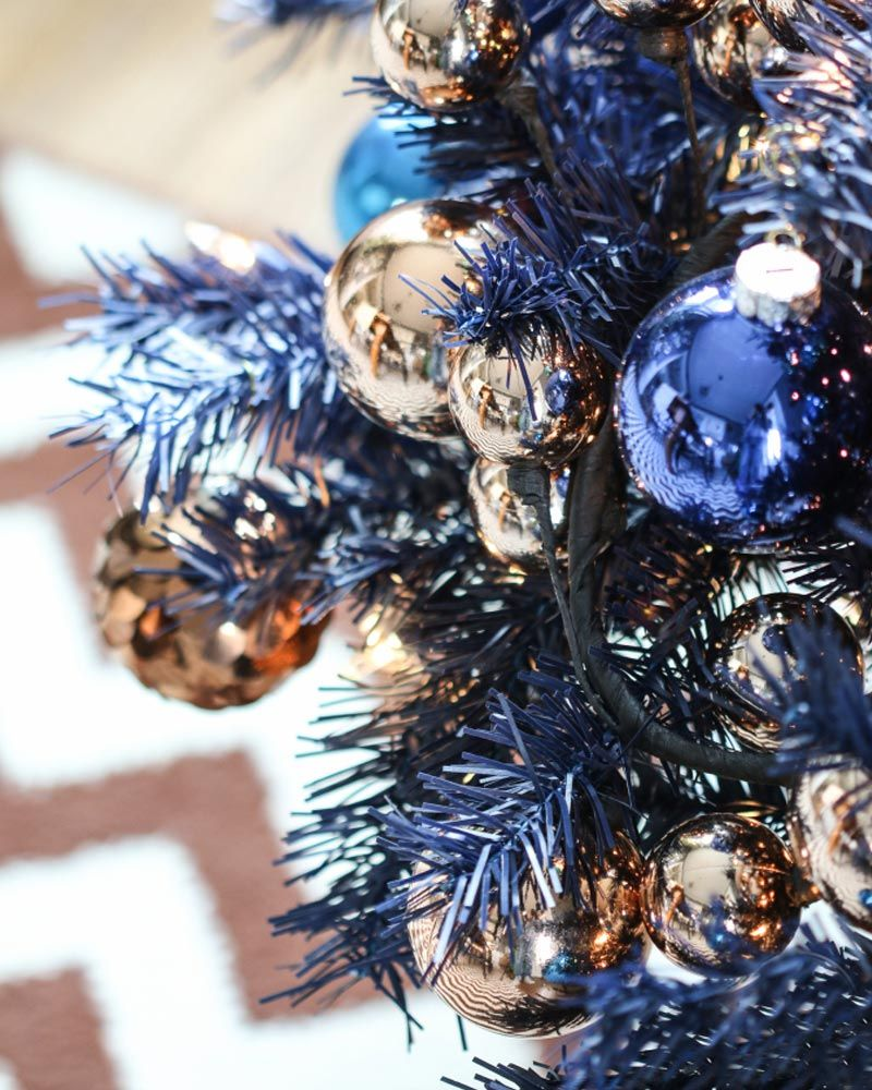 image result for navy gold christmas tree blue christmas decor gold christmas decorations christmas - Navy And Gold Christmas Decorations
