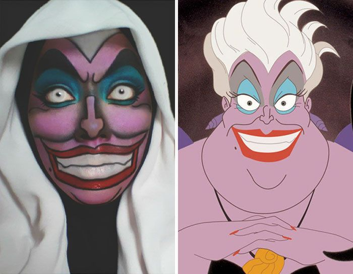 Com Hijab Mulher Se Transforma Em Princesas Da Disney Ursula - Makeup artist uses hijab to transform herself into disney characters