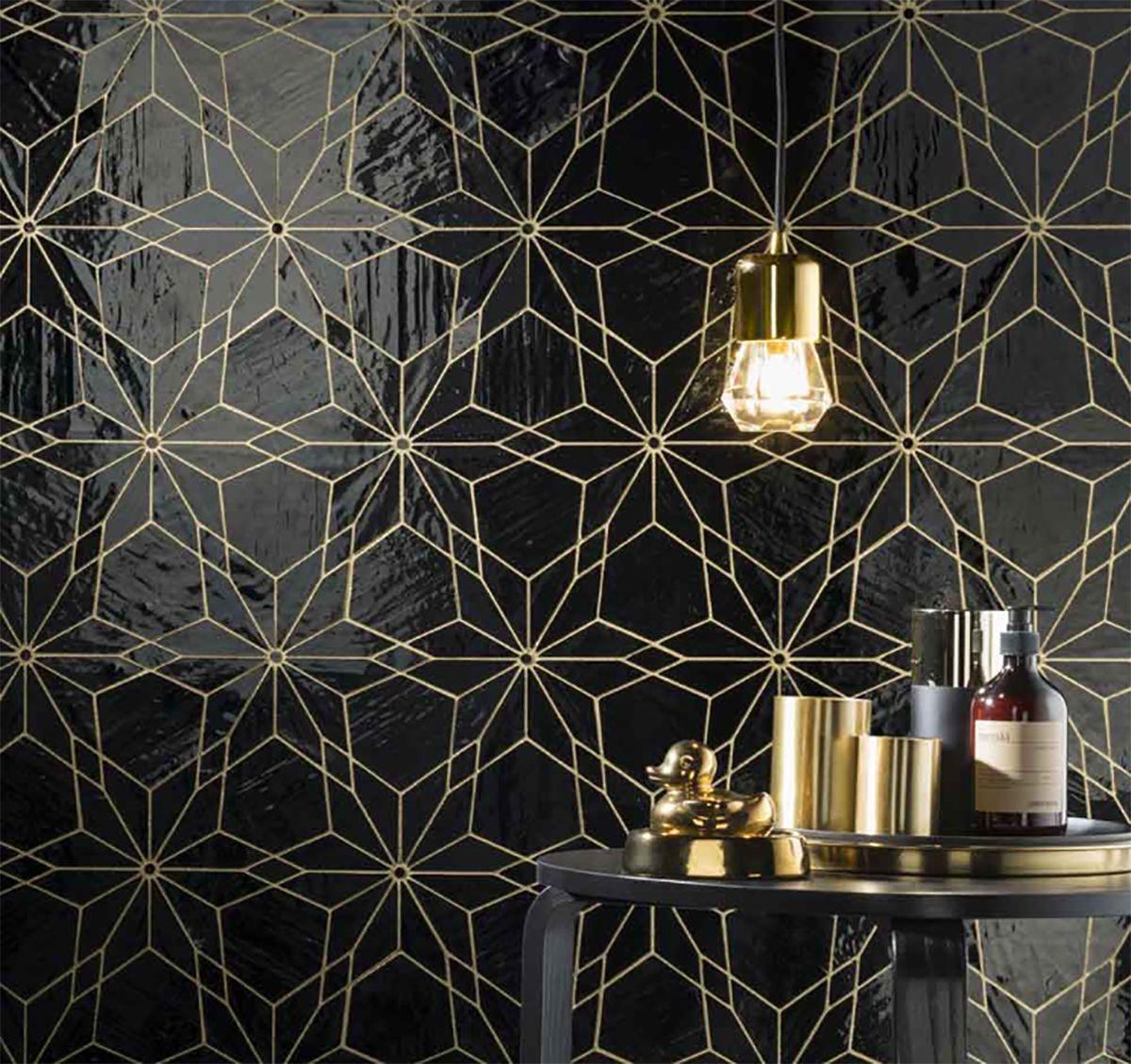 Diamond Neropuro Midamericatile Lovetile Blackwhite Blacktile Lovetile Design Tileideas Get Black And Gold Bathroom Black Mosaic Tile Black Bathroom