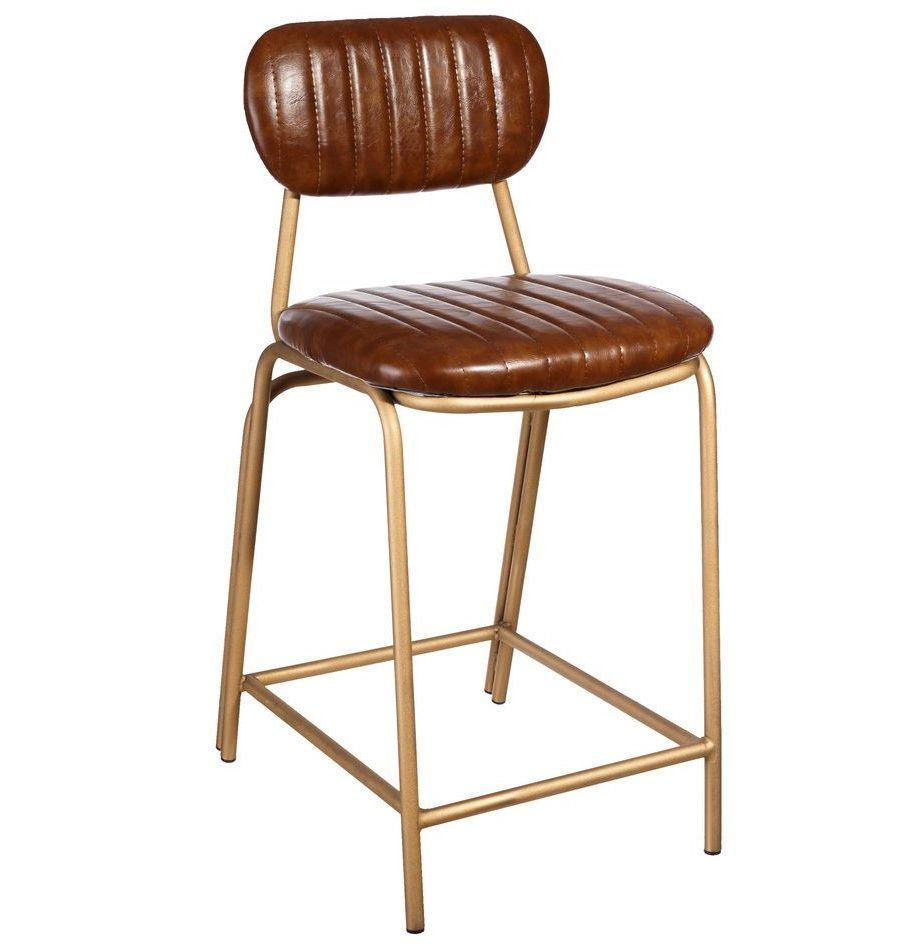 taburete bajo poliuretano marrón 42 x 49 x 88 cm | taburetes vintage